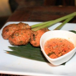 Thai fish cake and lemongrass