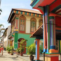 Case colorate tipiche del quartiere