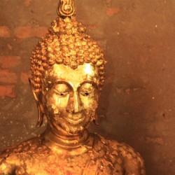 Buddha ricoperto di fogli d'oro