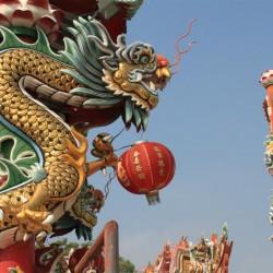 Dragoni al Wat Phanan Choeng