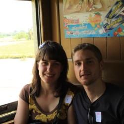 Sul treno che porta a Nam Tuk