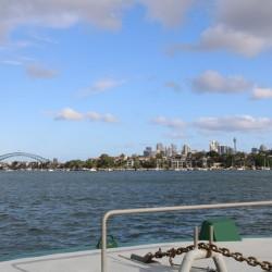 Arrivo a Sydney sul traghetto