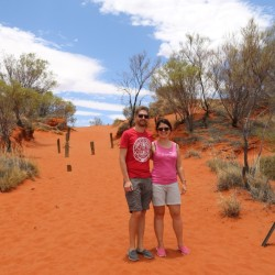 Sabbia rossa del deserto